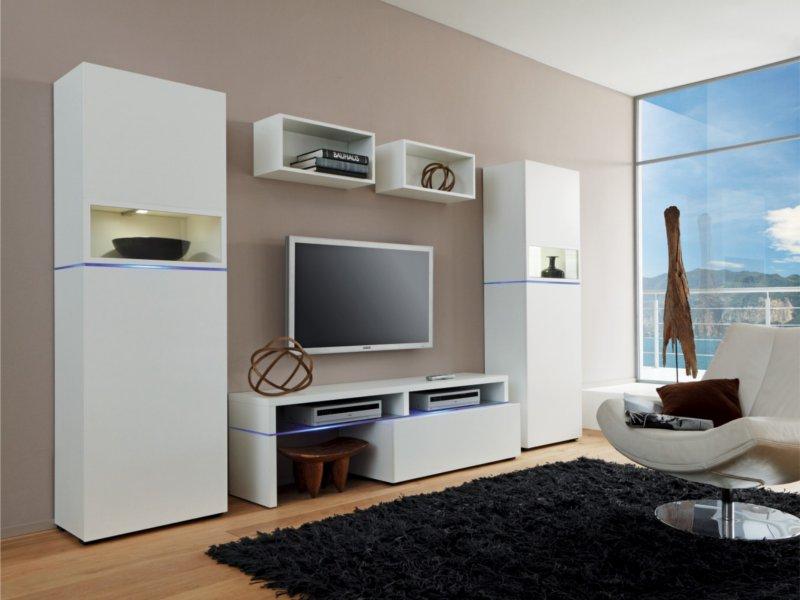 design anbauwand wei 6 tlg paul gottfried. Black Bedroom Furniture Sets. Home Design Ideas