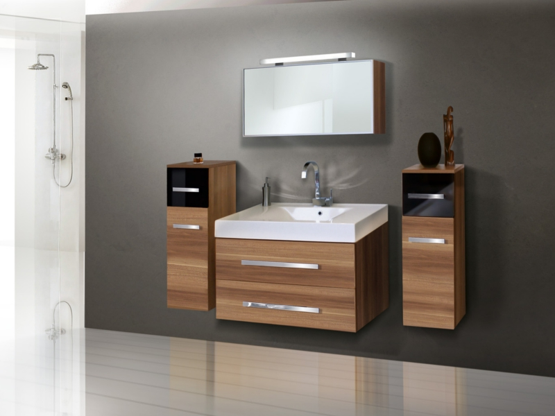 design badezimmerm bel set mit 2 highboards paul gottfried. Black Bedroom Furniture Sets. Home Design Ideas