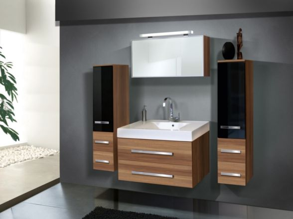 Design Badezimmermöbel - Set mit 2 Midischränken