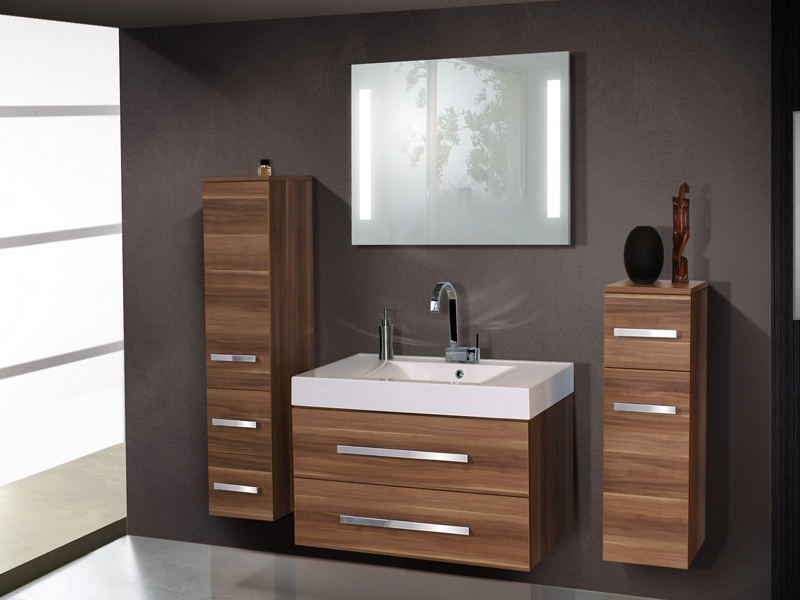design badezimmerm bel set mit einem highboard midischrank paul gottfried. Black Bedroom Furniture Sets. Home Design Ideas