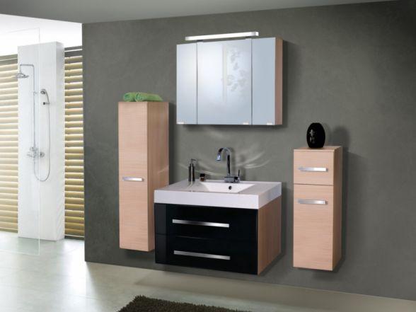 Design Badezimmermöbel - Set mit einem Spiegelschrank und 90-er Waschtisch