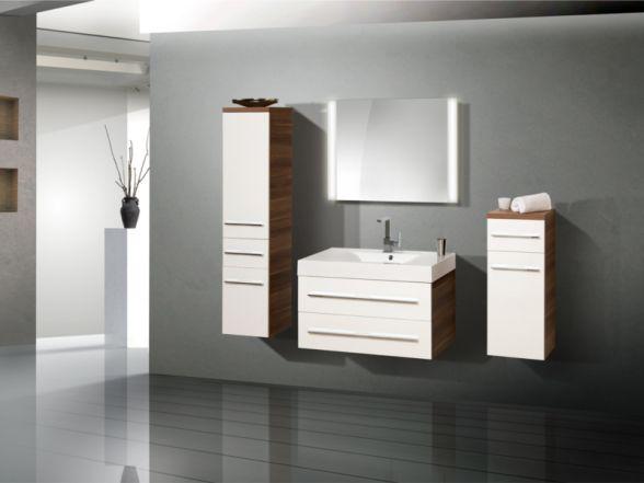 Design Badezimmermöbel - Set mit Midischrank und Highboard