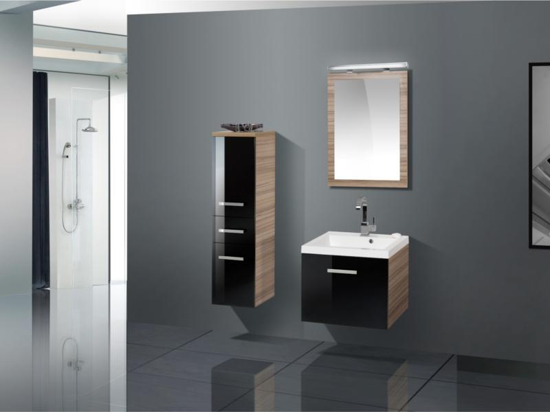design badezimmerm bel set mit midischrank und lichtpiegel paul gottfried. Black Bedroom Furniture Sets. Home Design Ideas