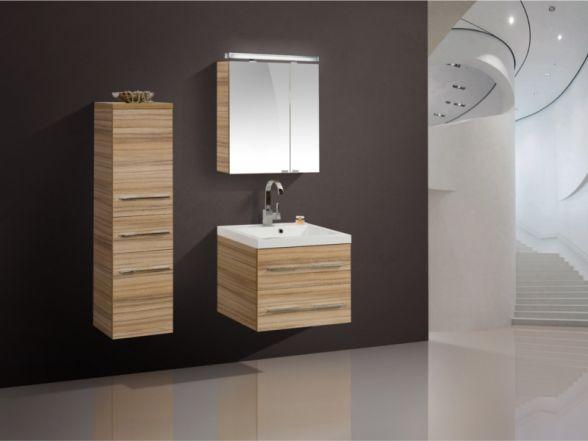 Design Badezimmermöbel - Set mit Midischrank und Spiegelschrank