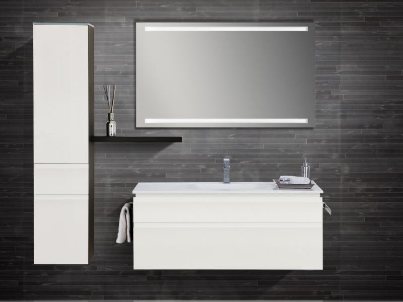 design badezimmerm bel set mit mineralgusswaschtisch midischrank und spiegel paul gottfried. Black Bedroom Furniture Sets. Home Design Ideas