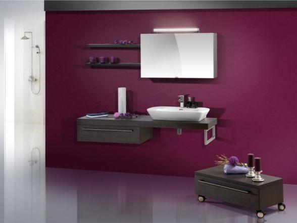 Design Badezimmermöbel - Set mit Waschtischplatte und Keramikwachtisch