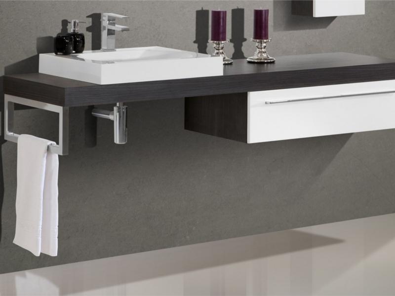 Waschtischplatte  Design Badezimmermöbel - Set mit Waschtischplatte und Spiegel ...