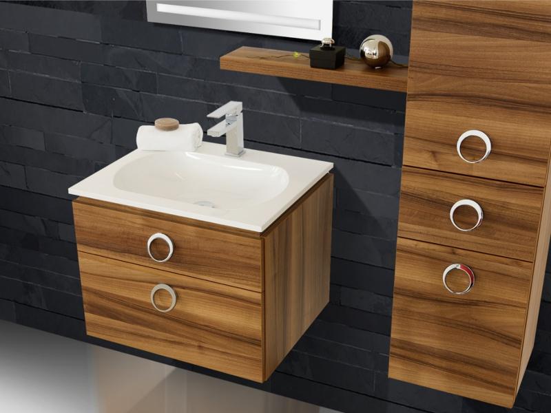 design waschplatz mit ultraflachem mineralgusswaschtisch 60cm paul gottfried. Black Bedroom Furniture Sets. Home Design Ideas