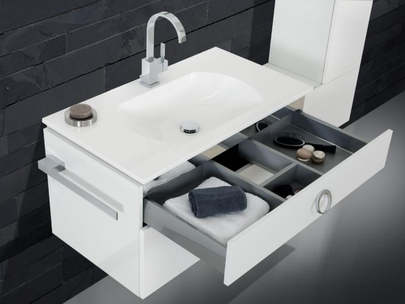 design waschplatz mit ultraflachem mineralgusswaschtisch 90cm paul gottfried. Black Bedroom Furniture Sets. Home Design Ideas