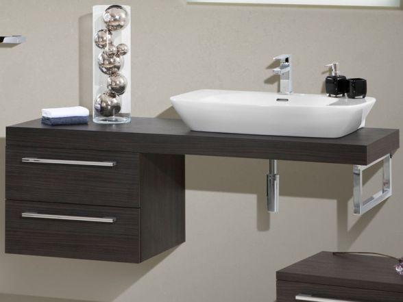 Design Waschplatz mit Waschtischplatte 150cm und Mineralgusswaschtisch