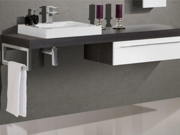 Design Waschplatz mit Waschtischplatte 180cm und Mineralgusswaschtisch