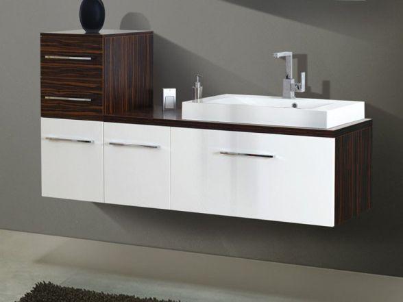 Design Waschplatz mit Waschtischplatte und Highboard 170cm