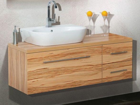 Design Waschplatz mit Waschtischplatte und Keramikwachtisch