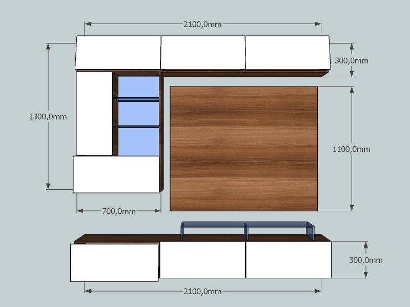 design wohnwand delight mit glaselementen und led beleuchtung paul gottfried. Black Bedroom Furniture Sets. Home Design Ideas
