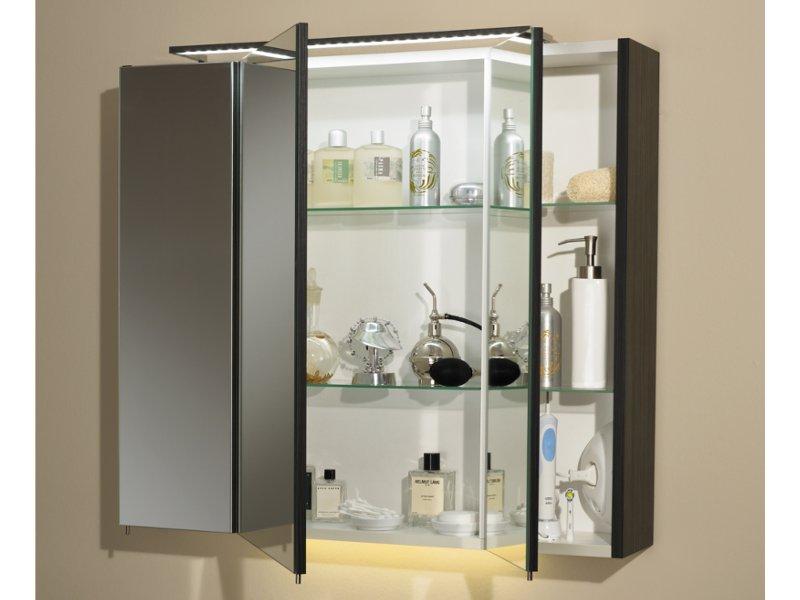 E zoll spiegelschrank sorrent 80cm breit 3 t rig for Spiegel 80 cm breit