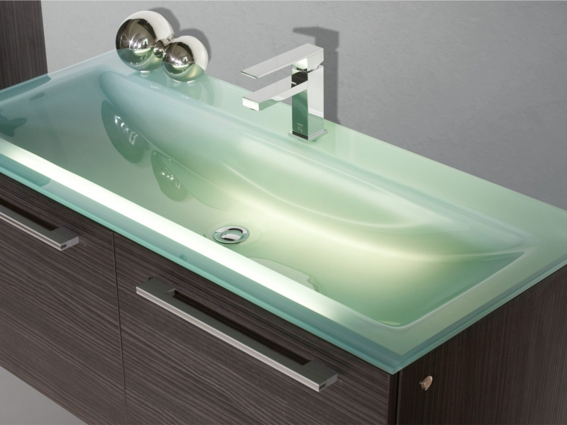 glaswaschtisch einzel 120cm salerno paul gottfried. Black Bedroom Furniture Sets. Home Design Ideas