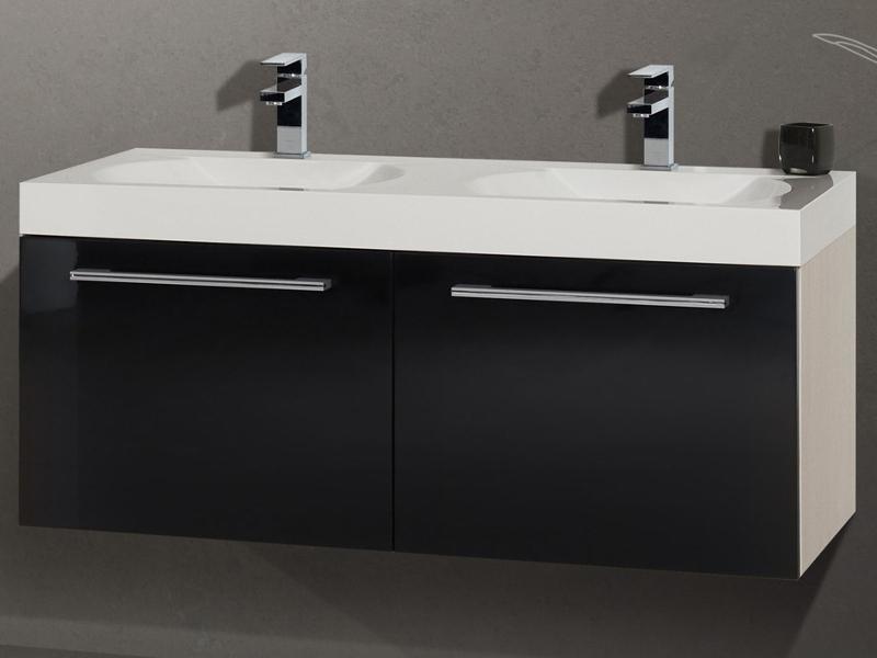 mineralguss doppelwaschtisch 120cm new style paul gottfried. Black Bedroom Furniture Sets. Home Design Ideas