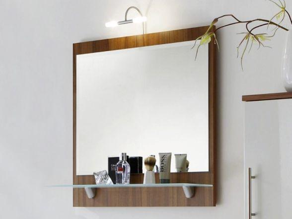 Posseik Spiegel mit Ablageboden 70cm, Walnuss Nachbildung