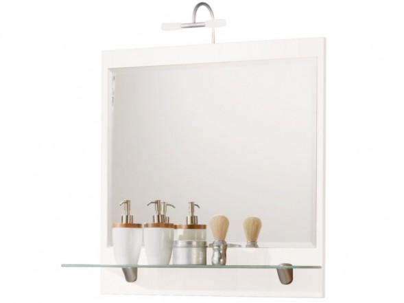 Posseik Spiegel mit Ablageboden 70cm, Weiß
