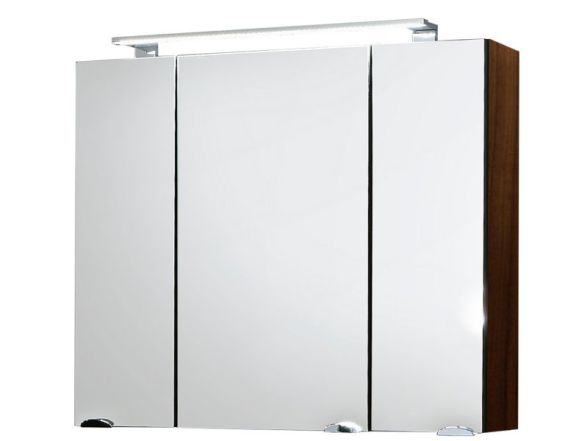 posseik spiegelschrank rima 3 t rig 80 cm walnuss. Black Bedroom Furniture Sets. Home Design Ideas