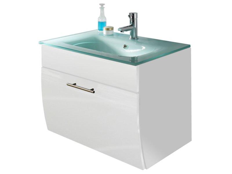 waschplatz mit glaswaschtisch 70cm breite mit schublade badm belset badm bel. Black Bedroom Furniture Sets. Home Design Ideas