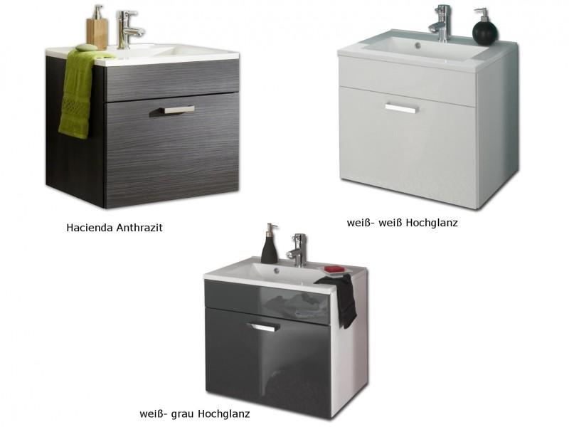 posseik waschplatz marano 60cm wei wei hochglanz. Black Bedroom Furniture Sets. Home Design Ideas