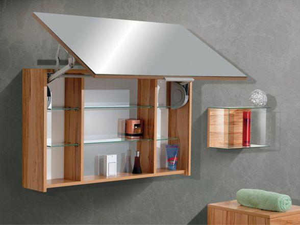 Spiegelschrank mit Lifttür 120 cm breit