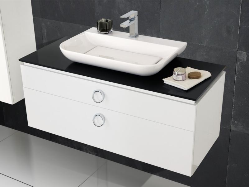 Design badezimmerm bel set mit mineralgusswaschtisch for Badezimmermobel hersteller