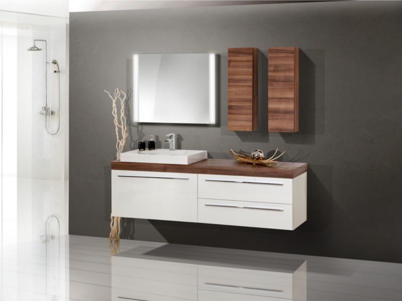 design badezimmermöbel  set mit waschtischplatte und