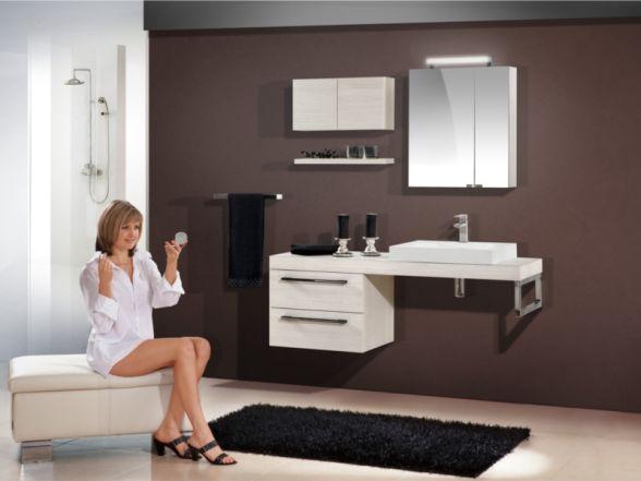 Design Badezimmermöbel - Set mit Waschtischplatte und Mineralgusswaschtisch