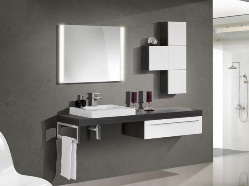 Design Badezimmermöbel   Set Mit Waschtischplatte Und Spiegel