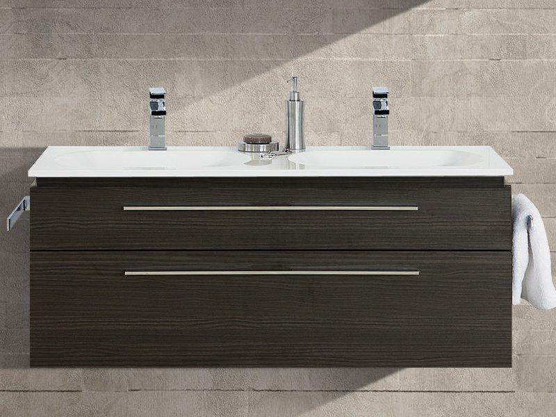 design waschplatz mit ultraflachem mineralguss doppelwaschtisch 120cm paul gottfried. Black Bedroom Furniture Sets. Home Design Ideas