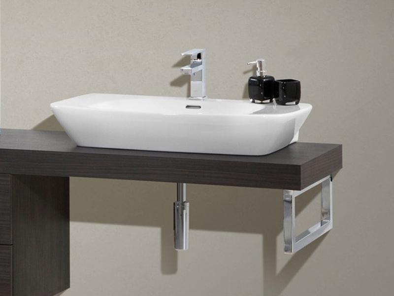 Design waschplatz mit waschtischplatte 150cm und for Waschtischplatte mit schublade