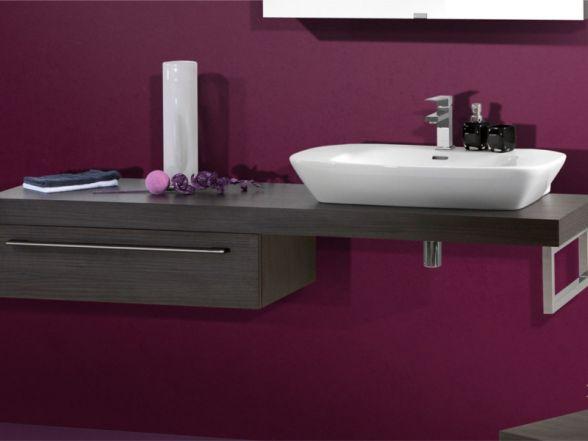 Design Waschplatz mit Waschtischplatte 180cm und Keramikwachtisch