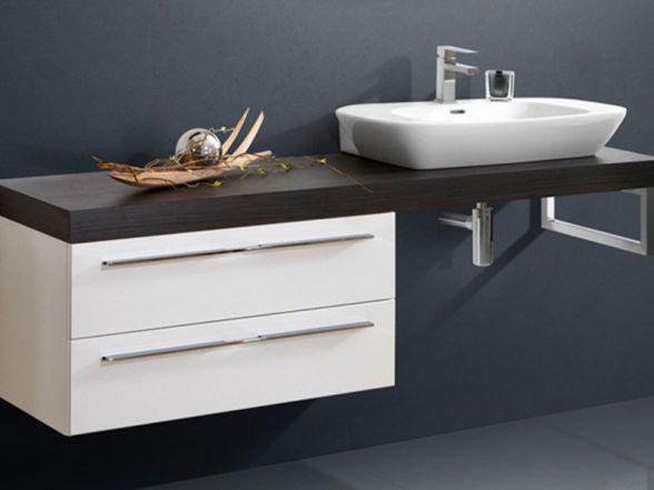 Design Waschplatz mit Waschtischplatte 180cm und Unterschrank