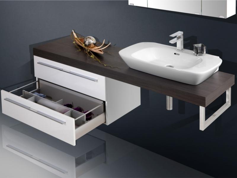 Charmant Design Waschplatz Mit Waschtischplatte 180cm Und Unterschrank