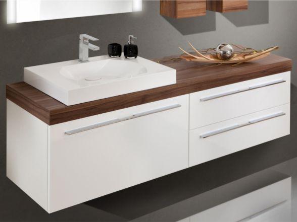 Design Waschplatz mit Waschtischplatte und Mineralgusswaschtisch