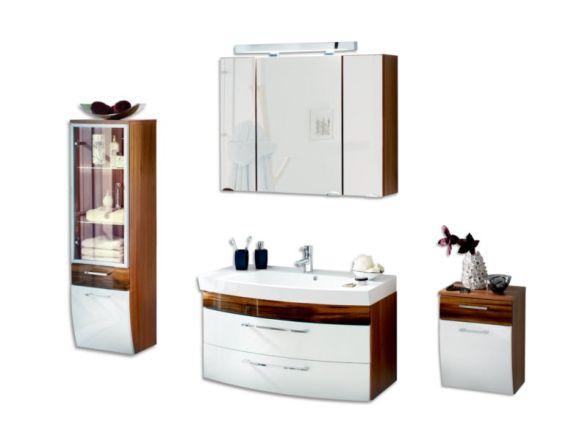 """Posseik Badmöbelset """"Rima"""" 100cm 4-teilig mit Spiegelschrank 90cm und 2 Seitenschränke"""
