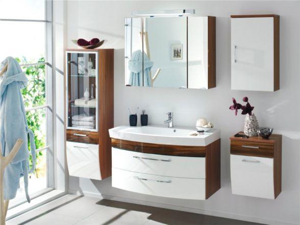 """Posseik Badmöbelset """"Rima"""" 100cm 5-teilig mit Spiegelschrank 90cm und 3 Seitenschränke"""