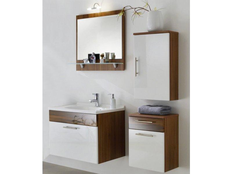 posseik h ngeschrank 40cm walnuss nachbildung wei. Black Bedroom Furniture Sets. Home Design Ideas