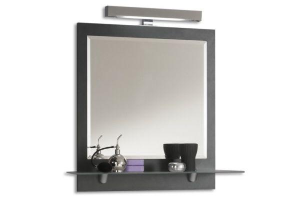 Posseik Spiegel mit Ablageboden 60cm Anthrazit