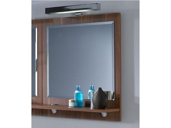 Posseik Spiegel mit Ablageboden 60cm Walnuss Nachbildung