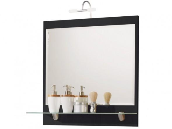Posseik Spiegel mit Ablageboden 70cm, Anthrazit