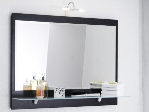 Posseik Spiegel mit Ablageboden 90cm, Anthrazit