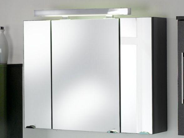 Posseik Spiegelschrank 3-türig 90 cm Anthrazit