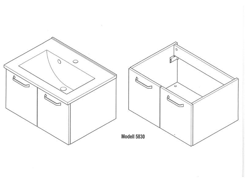 posseik waschplatz ventana 60cm 2 teilig paul gottfried. Black Bedroom Furniture Sets. Home Design Ideas
