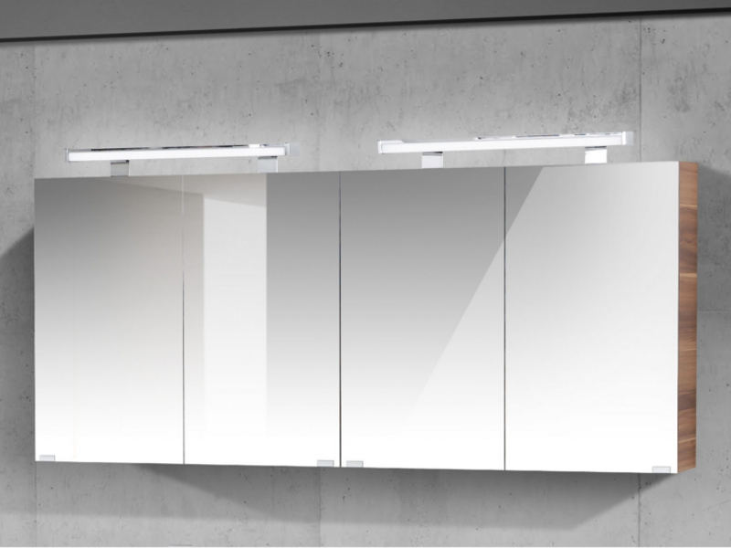 Spiegelschrank 160cm Breit 4 Turig 2x Spigelschrank 80cm Paul