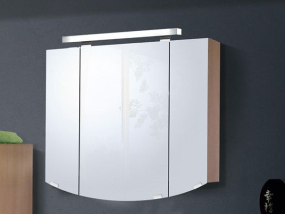 Spiegelschrank 90cm breit 3-türig rund