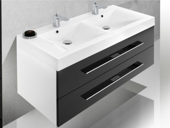"""Waschplatz """"Salerno"""" 120 cm mit Mineralgussdoppelwaschtisch"""