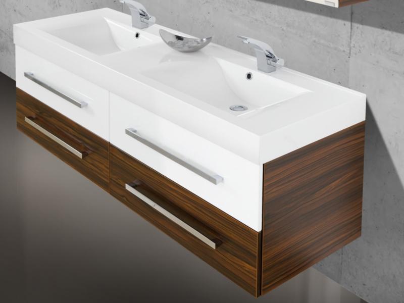 Waschplatz salerno 160 cm mit for Doppelwaschbecken 160 cm